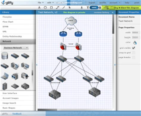 free gliffy diagram software use gliffy to create free visio network diagrams