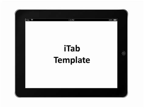 templates for pages free ipad itab landscape template
