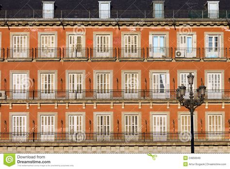 home design plaza mayor historic facade at plaza mayor in madrid royalty free stock images image 24856949