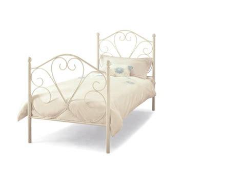 single metal bed frames serene isabelle 3ft single white metal bed frame by serene