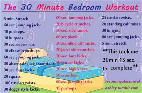 Quick Exercises To Do Before Bed Probably Will Have To Do This Early So I Can Go To