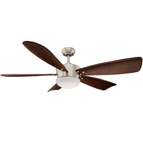 shop harbor breeze saratoga 60 in brushed nickel indoor