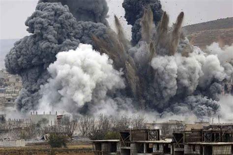 imagenes fuertes en siria ya se reportan fuertes explosiones tras la orden de