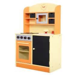 wood kitchen cooking pretend play set toddler