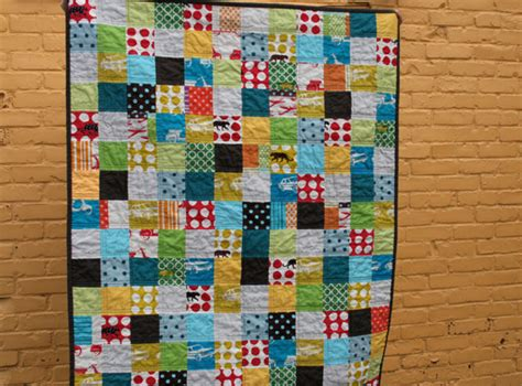 Patchwork Squares - fitf an echino patchwork quilt in the fridge