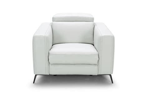 divani casa roslyn modern white leather sofa set w