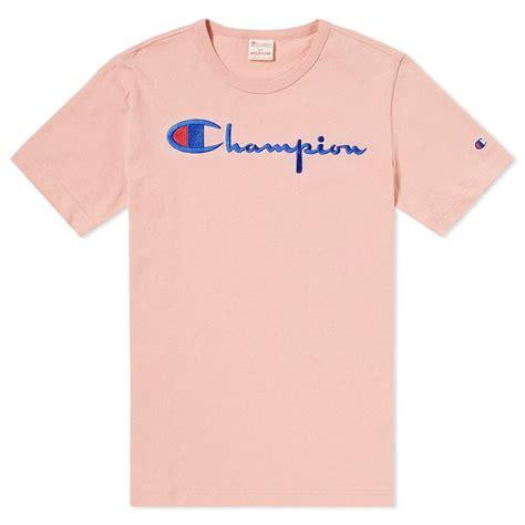 chion weave crew t shirt script logo mens