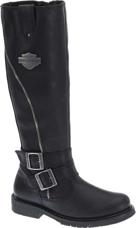 ladies black motorcycle boots harley davidson women s sennett 15 5 quot black motorcycle