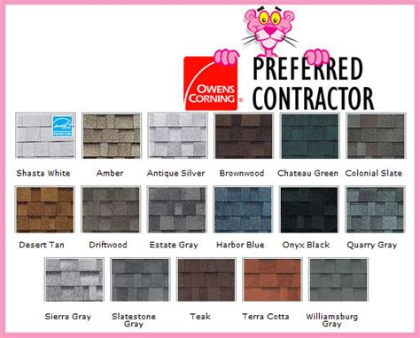 owens corning duration colors platinum roofing st louis mo
