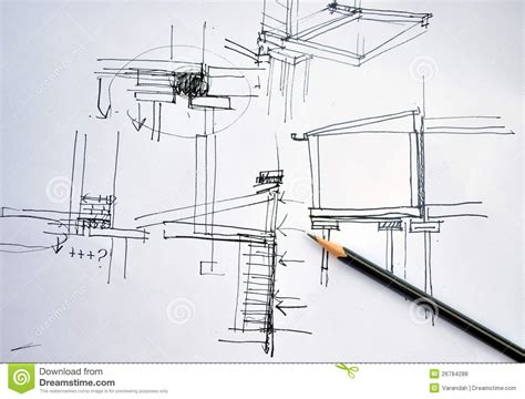 how to draw architectural plans draft hand drawing architecture plan with pencil stock