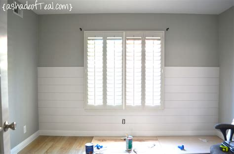How To Install Beadboard Wallpaper - shiplap a shade of teal