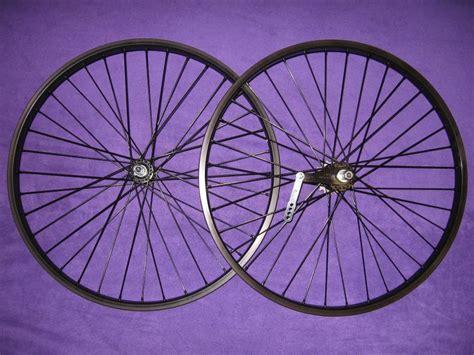 Handmade Bike Wheels - set of black heavy duty 12 spoke coaster brake wheel