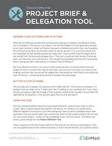 project brief template and delegation tool