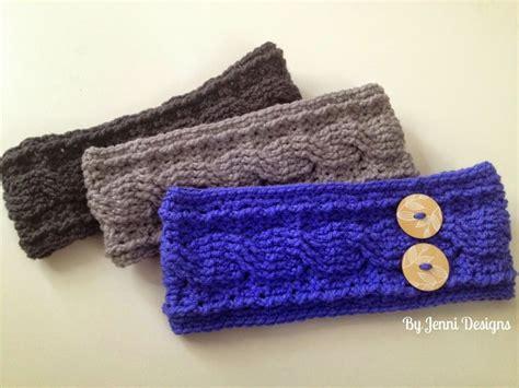 by jenni designs crochet cable ear warmer pattern crochet free patterns pinterest
