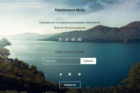maintenance mode html template wp maintenance mode plugins