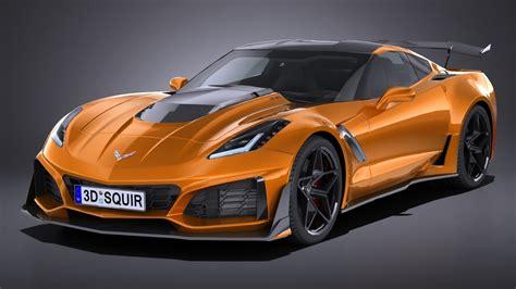 2019 Corvette Zr1 by Hq Lowpoly Chevrolet Corvette Zr1 2019