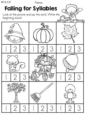 printable language arts games for kindergarten autumn kindergarten no prep language arts worksheets