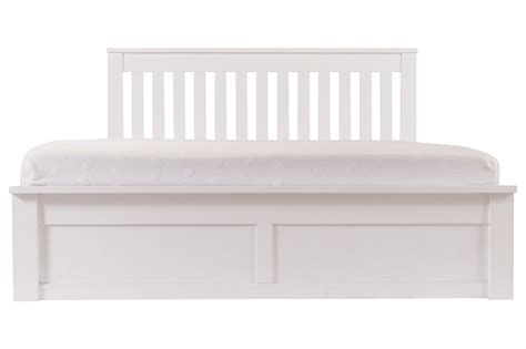 White Wooden Ottoman Bed Gfw Como 5ft King Size White Ottoman Lift Wooden Bed Frame By Gfw