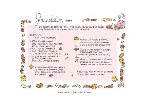 dessin recette de cuisine recette de granola 224 croquer cuisine en bandouli 232 re