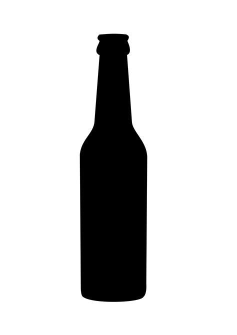 cartoon beer black and white beer bottle black clipart