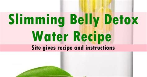 Belly Slimming Detox Water Recipe by Check Out Healthy Slimming Belly Detox Water It S So Easy