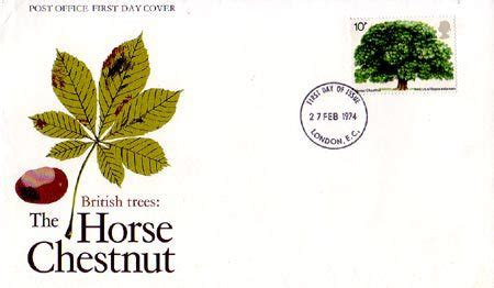 Gb Trees The Chestnut 1974 2nd Isuue trees 2nd issue 1974 collect gb sts