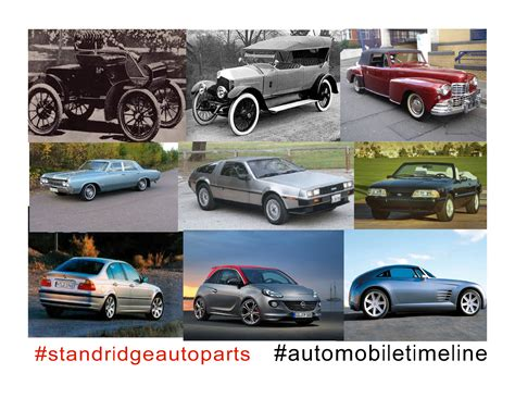 invention of the motor car timeline of the automobile standridge auto parts