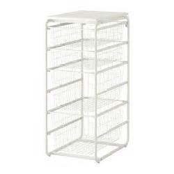 Ikea Shelves With Baskets Algot Frame With 4 Wire Baskets Top Shelf Ikea