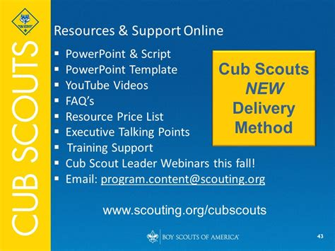 Cub Scouts New Delivery Method Ppt Video Online Download Boy Scout Powerpoint Template