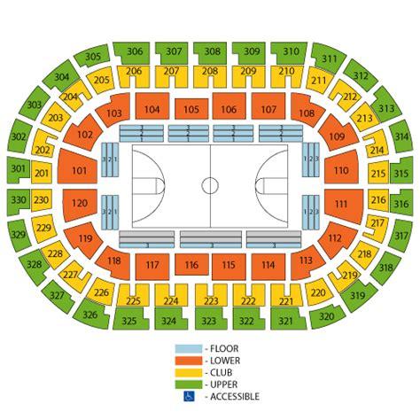 oklahoma city thunder seating chart oklahoma city thunder arena seating
