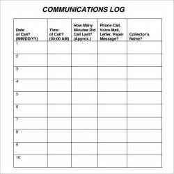 communication log template communication log template 8 free pdf doc