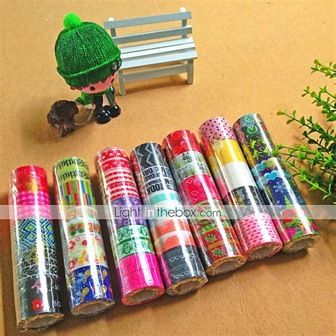 2pcs popular rainbow washi sticky paper masking adhesive