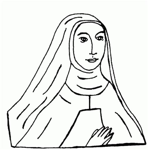 catholic saint coloring pages coloring home