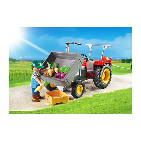 Playmobil Tractor playmobil 6131 harvesting tractor