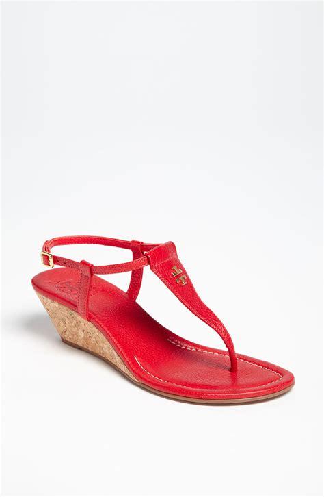 wedge sandal burch britton wedge sandal in tum lyst
