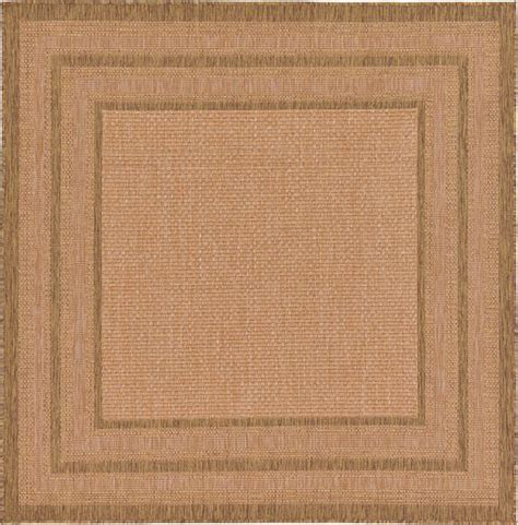 10 6 Square Rug - light brown 6 x 6 outdoor border square rug area rugs