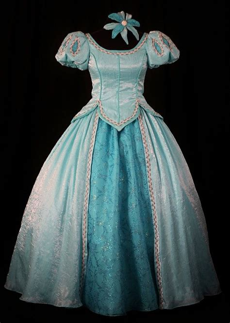 Handmade Disney Princess Dresses - child mermaid aqua gown custom by