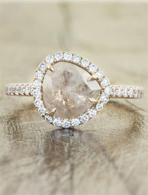 audrix rustic pink gold ring ken design