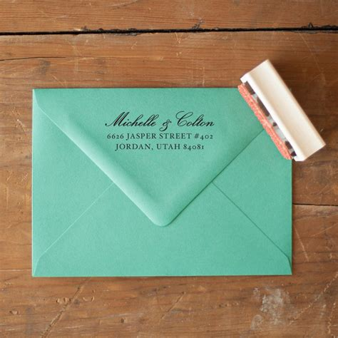 return address st for wedding invitations custom return address st wedding invitation st rustic