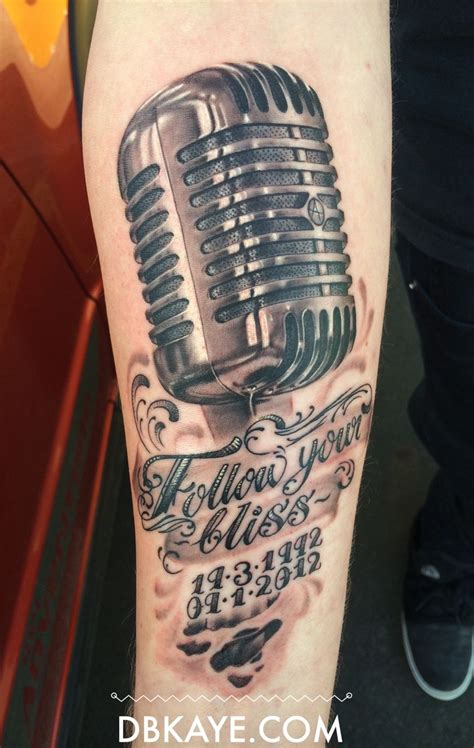 mic tattoo vintage microphone rip dbkaye david