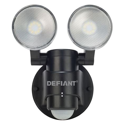 Home Depot Outdoor Flood Lights Defiant 180 Degree 2 Black Motion Activated Outdoor Flood Light Dfi 5936 Bk The Home Depot