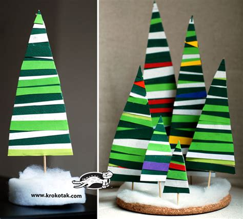 Paper Strips Crafts - how to make paper strips fir tree diy crafts handimania
