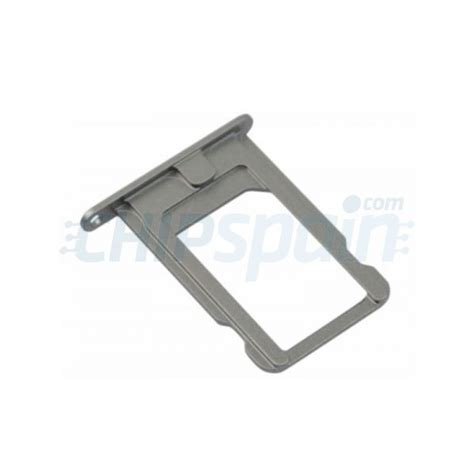 porta iphone 5s porta sim iphone 5s gris espacial chipspain