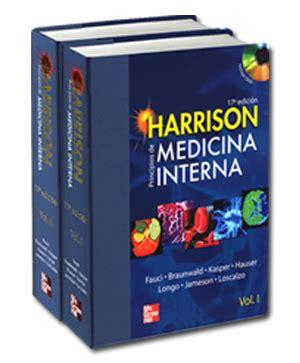 libri medicina interna libro medicina interna de harrison edici 243 n 17 vol 1 y 2