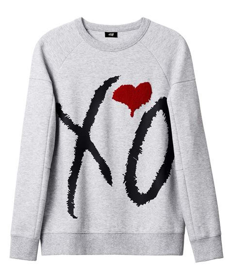 The Weeknd H M Xo Hoodie Grey Size M the weeknd and h m unveil icons collection complex