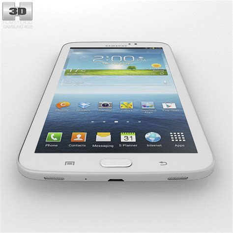 Second Samsung Tab 3 7 Inch samsung galaxy tab 3 7 inch white 3d model hum3d