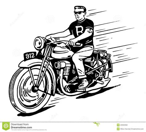rebel on vintage motorcycle stock photography image