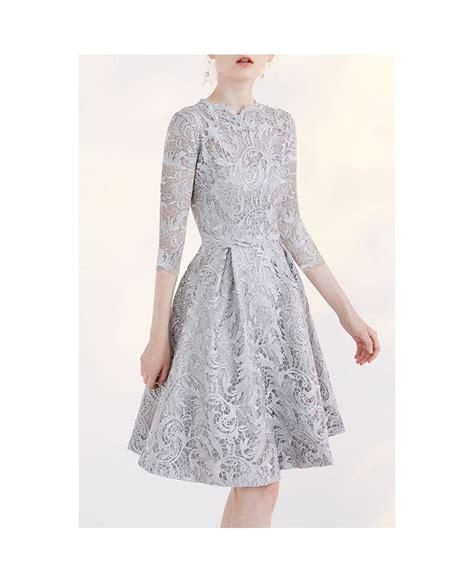 3 4 Sleeve A Line Lace Dress modest wedding dresses lace a line 3 4 sleeve