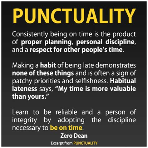 A Word From Those More Disciplined Than I by Punctuality