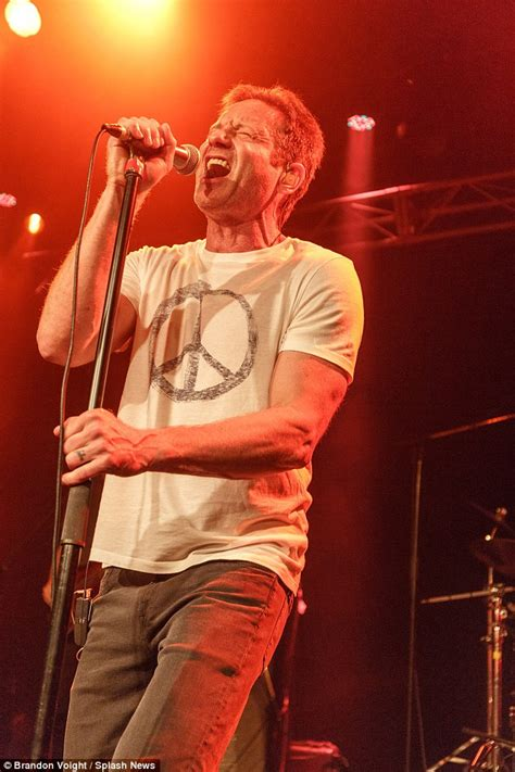 finger tattoo californication actor david duchovny serenades fan with cerebral palsy